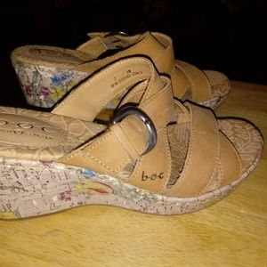 b.o.c. Born Concepts Wedge Sandals Brown